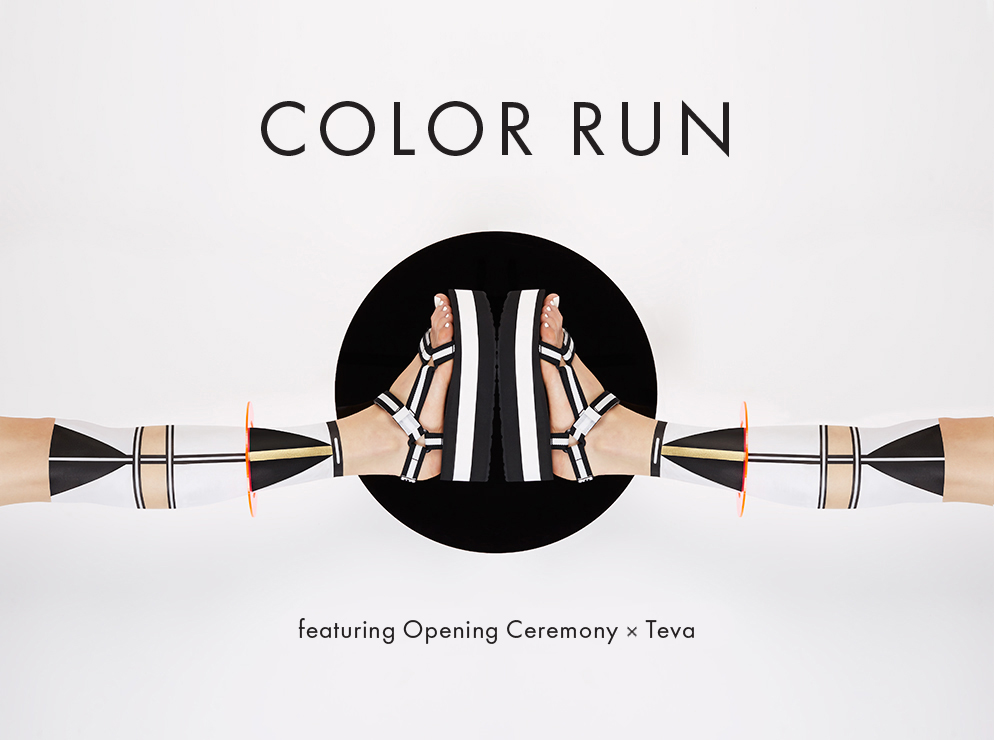 Color Run featuring Opening Ceremony x Teva Spring/Summer 2015
