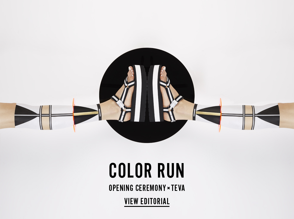 Color Run - Opening Ceremony x Teva - View Editorial and Pre-Order Now