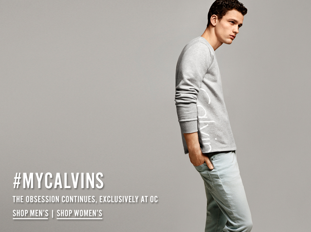 #MYCALVINS - The obsession continues, exclusively at Opening Ceremony - Shop Now