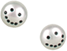 NEKTAR DE STAGNI Smiley Face Pearl Earrings