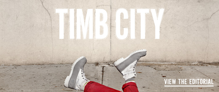 Timb City featuring Opening Ceremony and Timberland Boots - View the Editorial - Photography by Carlos Charlie Perez, Styling by Haley Wollens