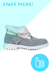 Staff Picks - OC and Timberland Roll Top Boots in Grey Pigeon
