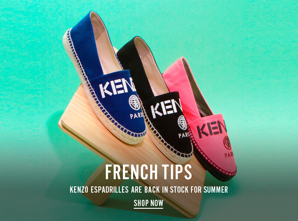 French Tips - Kenzo Espadrilles are back in stock for summer