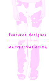 Featured Designer - Marques'Almeida