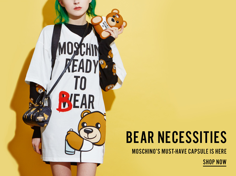 Bear Necessities - Moschino's Must-Have Capsule Is Here - Shop Now