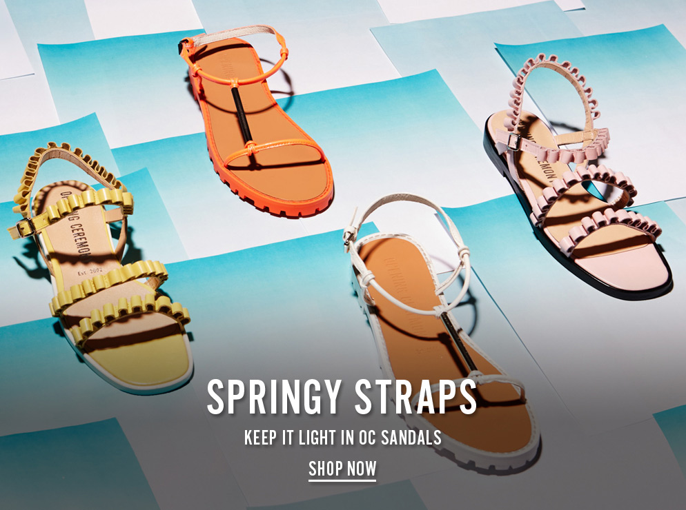 Springy Straps - Keep It Light In Opening Ceremony Sandals - Shop Now
