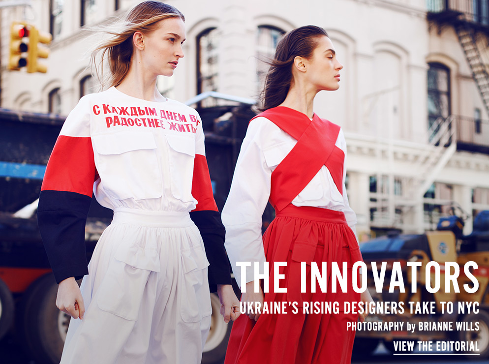 The Innovators - Ukraine's Rising Designers Take To NYC - View the Editorial