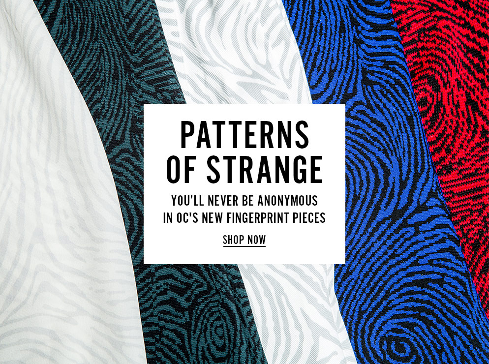 Patterns Of Strange - You'll Bever Be Anonymous In OC's New Fingerprint Pieces - Shop Now