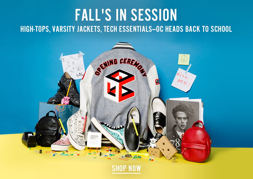 Fall's In Session - High-tops, Varsity Jackets, Tech Essentials -- OC Heads Back to School - Shop Now