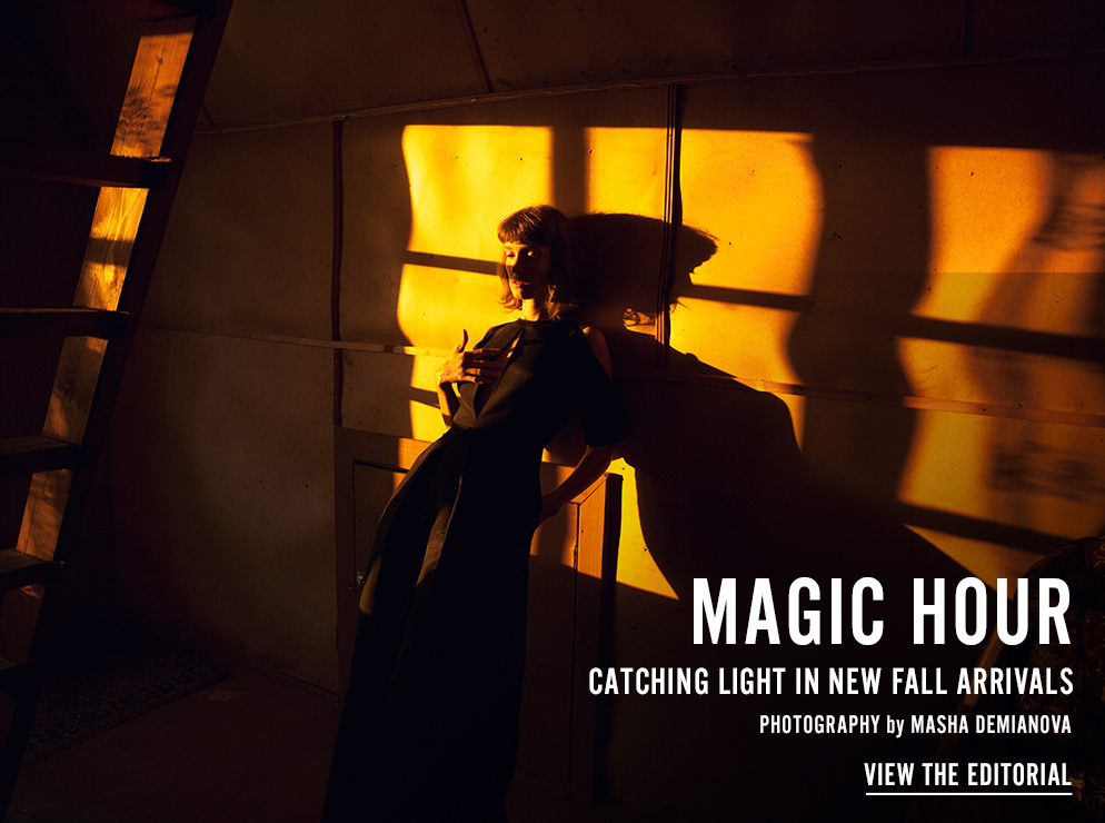 Magic Hour - Catching Light In New Fall Arrivals - Photography by Masha Demianova - View the Editorial