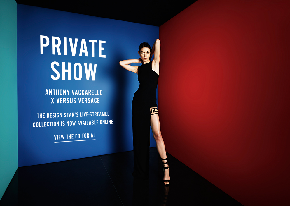 Private Show - Anthony Vaccarello x Versus Versace - The Design Star's Live-Streamed Collection Is Now Available Online - View the Editorial