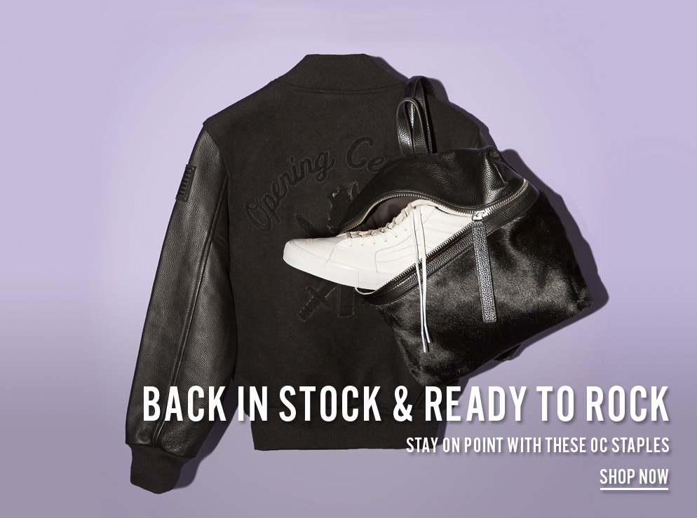 Back in Stock and Ready to Rock - Stay on point with these OC staples - Shopw Now
